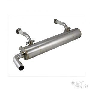 Ljuddämpare Avgas, Vintage Speed, utan förhettningssteg, Rostfritt stål [tag]