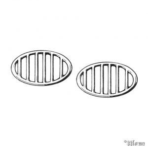 Tilllbehör Kaross Horngrillar Bubbla (pair)