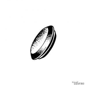 Antenn Antennhåls lock, svart, styck [tag]
