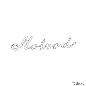 Emblem/Skyltar Hotrod