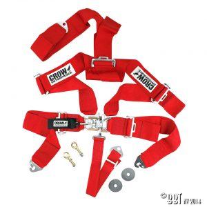 Bilbälte 5-vägs säkerhetsbälte, röd – CROW [tag]