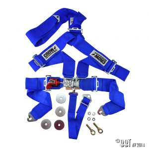 Bilbälte 5-vägs säkerhetsbälte, blå – CROW [tag]