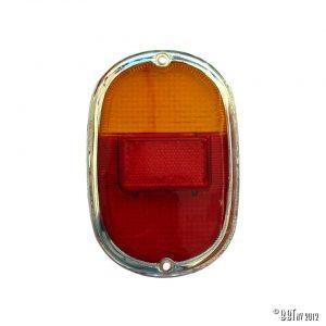Bakljus Baklykta, glas, europeisk, orange / röd med integrerad kromring, ekonomi [tag]