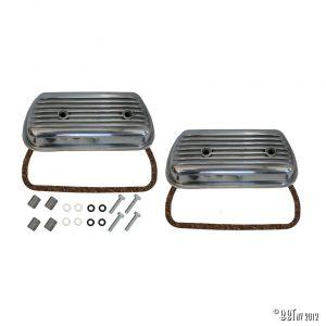 Ventilkåpa Aluminiumsventilskydd med skruvar, monterings kit och gummi, par [tag]