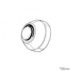 Torkararm Axellock mellan arm och kaross, styck [tag]